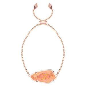 NWOT Kendra Scott Rose Gold Opal Cambel Bracelet
